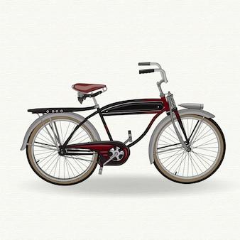 Vélo vintage noir et rouge