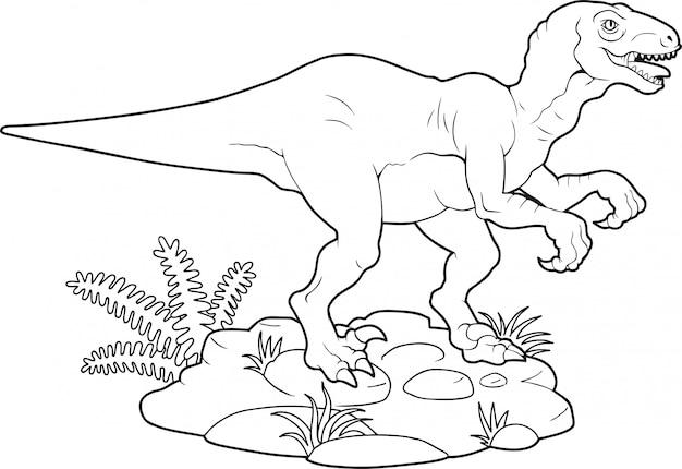 Vélociraptor de dinosaure,