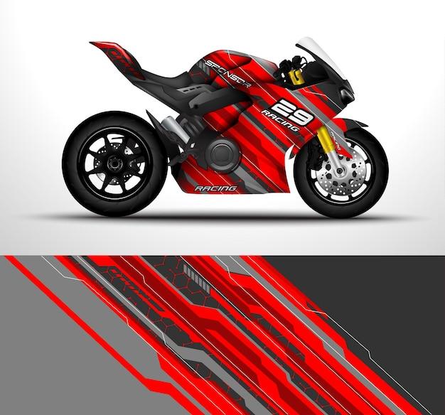 Les vélos de sport de moto de course enveloppent la conception de décalcomanies et d'autocollants en vinyle.