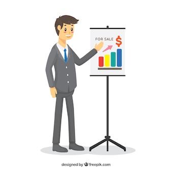 Vendeur avec concept de présentation