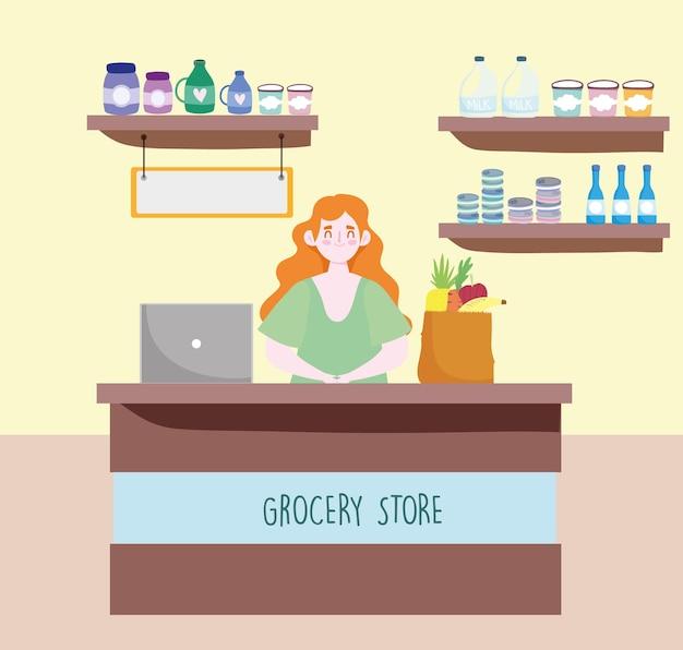Vendeur épicerie