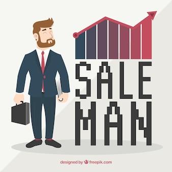 Vendeur et graphique