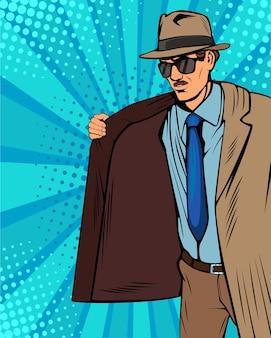 Vendeur de manteaux pop art