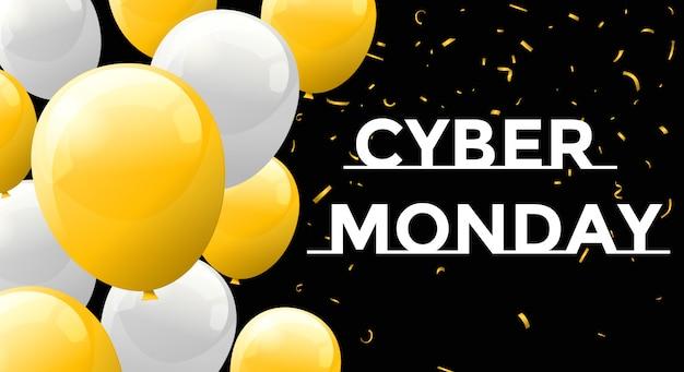 Vendredi noir et bannière du cyber lundi.