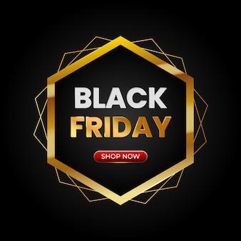 Vendredi noir avec cadre et bouton acheteur