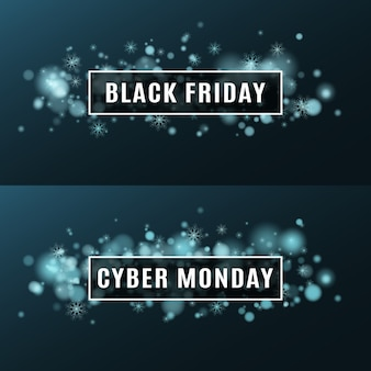 Vendredi noir et cyber lundi.