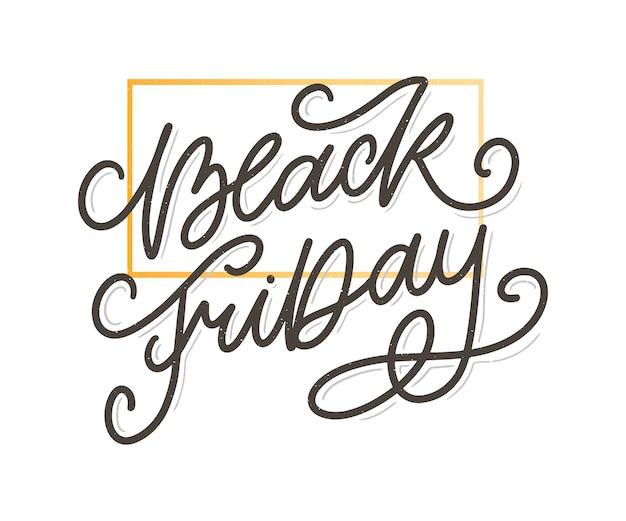 Vendredi noir éléments de style rétro calligraphique vente d'ornements vintage, lettrage de liquidation
