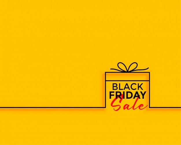 Vendredi noir fond de vente cadeau minimal