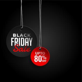 Vendredi noir fond de vente avec les détails de l'offre
