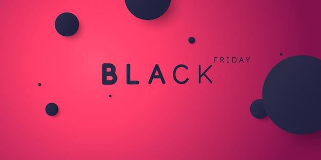 Vendredi noir grandes ventes abstrait lumineux d'illustration vectorielle de style minimaliste