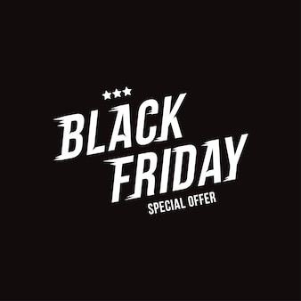 Vendredi noir. inscription de police pour la vente de vacances sur fond noir.