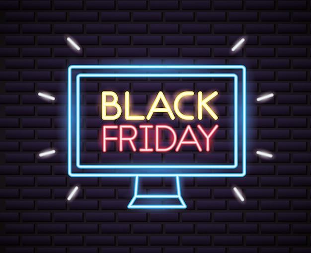 Vendredi noir shopping vente de néons