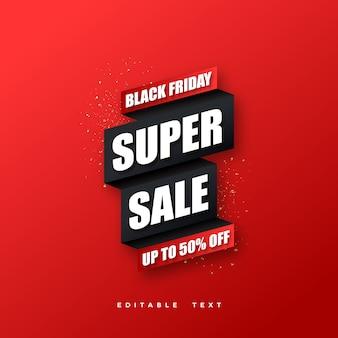 vendredi noir super vente design élégant simple.