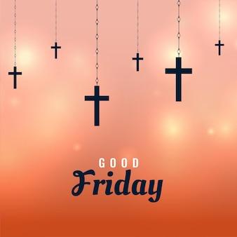 Vendredi saint avec des croix suspendues