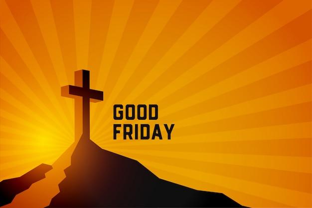 Vendredi saint résurrection de fond de scène de jésus christ