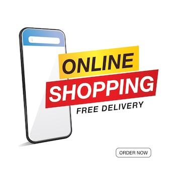 Vente d'achats en ligne et étiquette d'offre spéciale, étiquettes de prix, étiquette de vente, bannière, illustration vectorielle.