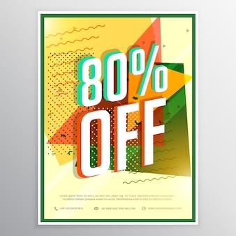 Vente affiche concept bannière flyer