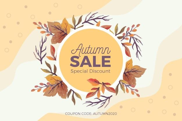 Vente d'automne aquarelle
