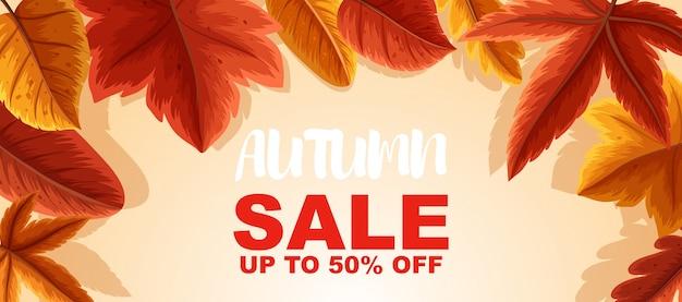 Vente d'automne jusqu'à 50 pour cent de conception d'affiche