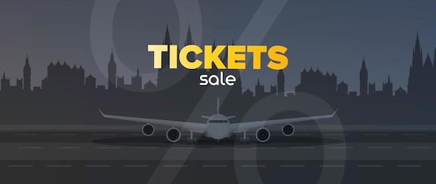 Vente de bannière de billets d'avion
