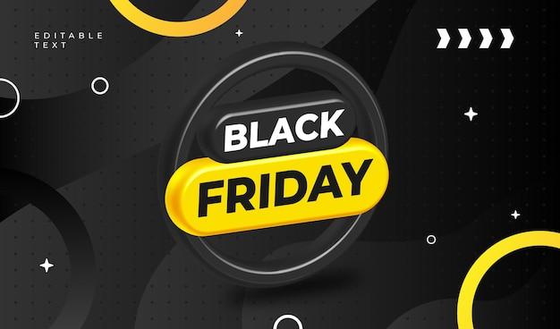 Vente de bannière du vendredi noir