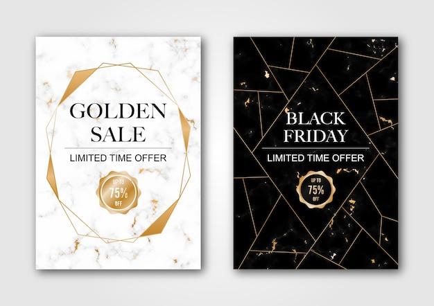 Vente de bannière noir et blanc de luxe