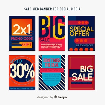 Vente de bannières web sur les médias sociaux