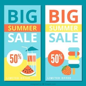 Vente big bannières d'été