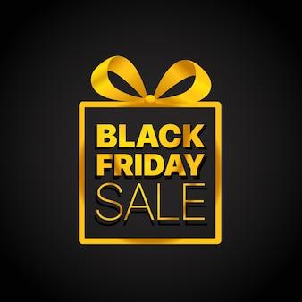 Vente, boîte, affaires, ruban, confettis, vendredi noir, noir, promo, noël, cadeau, affaire,