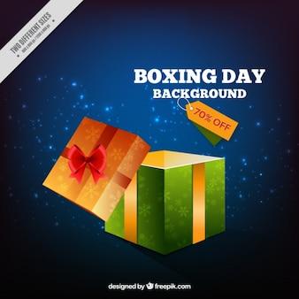 Vente boxing day background dans le style réaliste