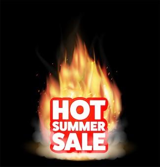 Vente chaude d'été avec un vrai feu brûlant