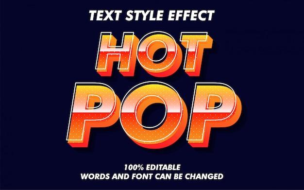Vente chaude pop art style texte style effet