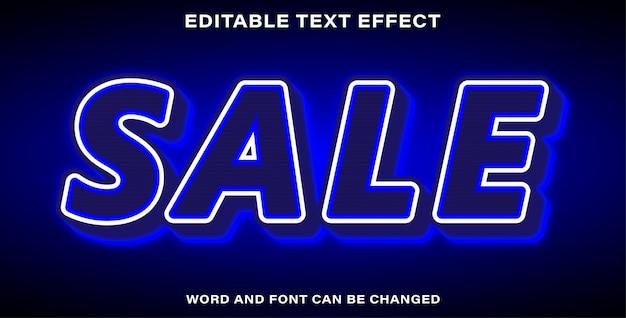 Vente d'effet de texte modifiable illustrateur