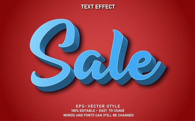 Vente d'effets de texte modifiables