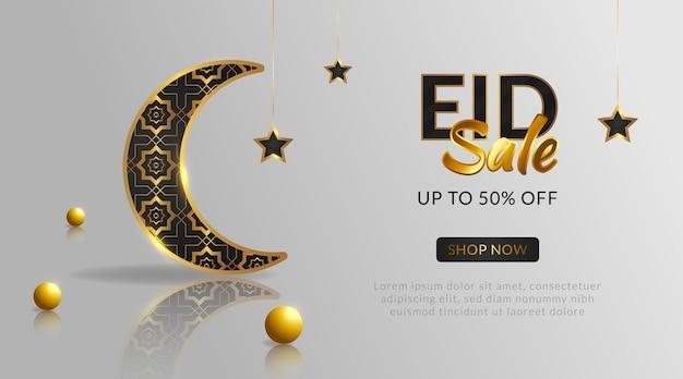 Vente eid réaliste avec un style doré