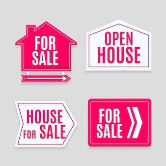 Vente ensemble de signes immobiliers