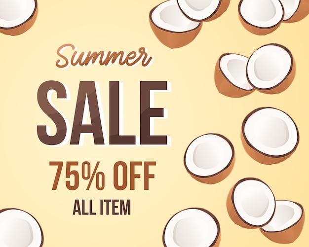 Vente d'été de noix de coco
