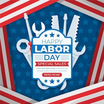 Vente de fête du travail plat aux états-unis