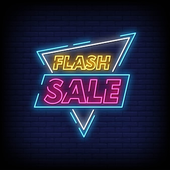 Vente flash style néon style texte