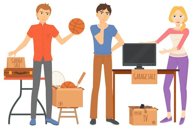 Vente de garage, articles ménagers et de sport
