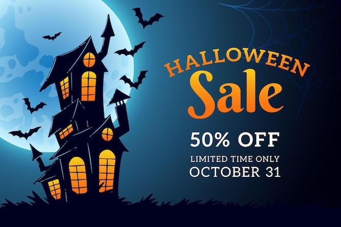 Vente d'halloween design dessiné à la main
