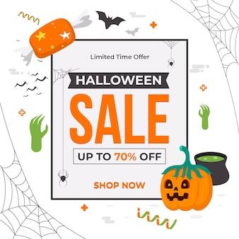 Vente d'halloween design plat
