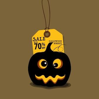 Vente hallowen fond avec de la citrouille