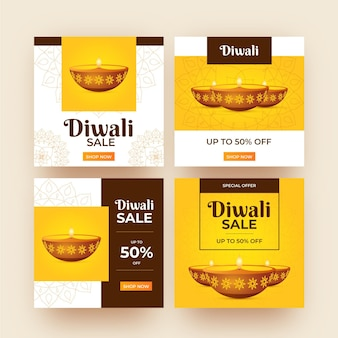 Vente instagram posts diwali event