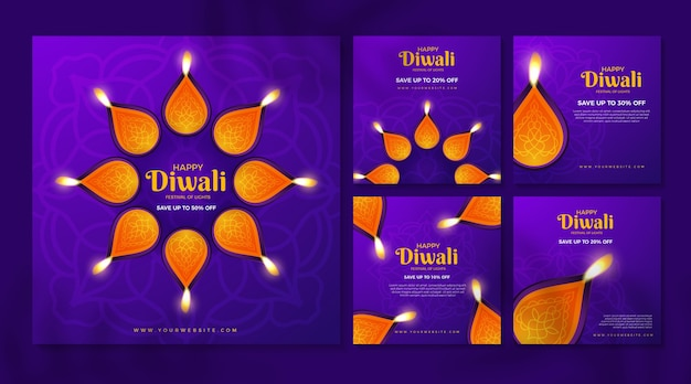 Vente instagram posts diwali holiday