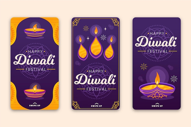 Vente instagram stories diwali celebration