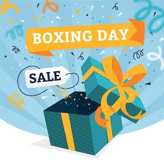 Vente de jour de boxe design plat