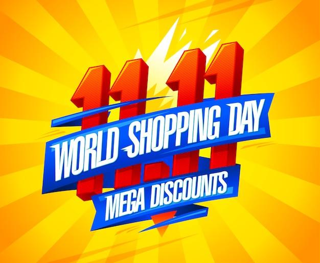 Vente de la journée mondiale du shopping, conception d'affiches de remises ------