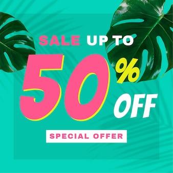 Vente jusqu'à 50% de publicité vectorielle
