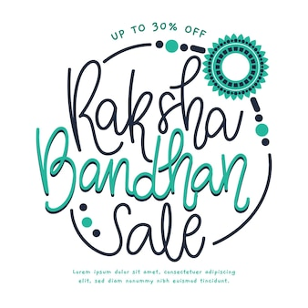 Vente de lettrage raksha bandhan